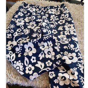 Tommy Hilfiger Blue Floral Pants Size 14